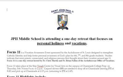 Middle School Retreat
