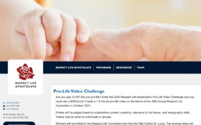 May 1st – September 28th 2020: Archdiocesan Pro-Life Video Challenge